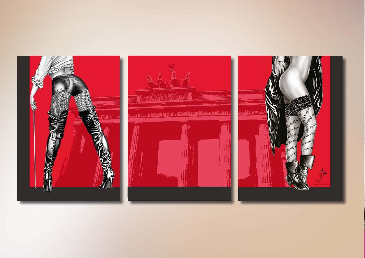 Berlin in red by Paul John Ballard | Pin-Up PopArt